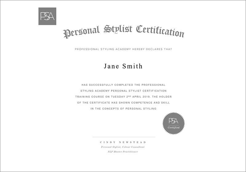 PSA - Certification Program